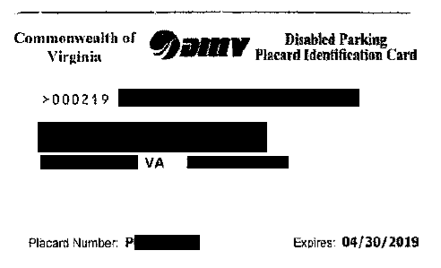 Virginia DMV Disability Parking Permit